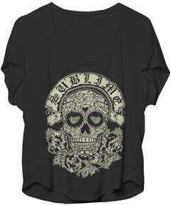 Sublime Skull Ladies Dolman Top