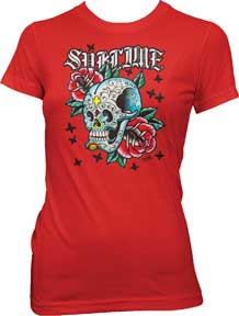 Sublime Skull and Roses Ladies T-Shirt