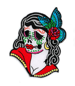 Sugar Skull Lady Patch