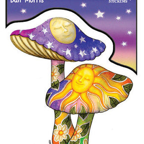 Sun Moon Mushrooms Sticker