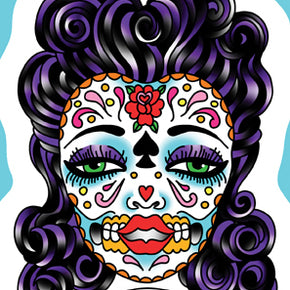 Tea Time Sugar Skull Sticker