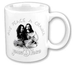 The Beatles Lennon Give Peace a Change Coffee Cup