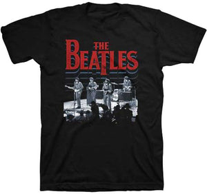 The Beatles Stage Photo Black T-Shirt
