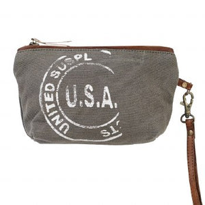 USA Canvas Clutch By Clea Ray