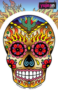 Western Sugar Skull Sticker