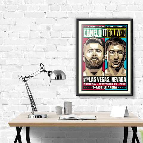 Canelo vs GGG 2 Middleweight Championship Framed Serigraph (Printer Proof)