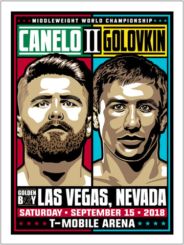 Canelo vs GGG 2 Middleweight Championship Serigraph (Printer Proof)