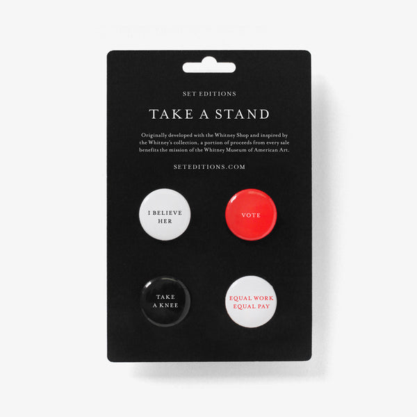 Take a Stand Button Set