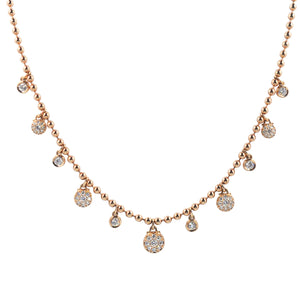 Goldstein Collection Mini Ball Charm Necklace