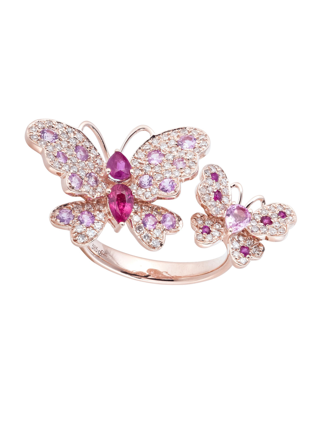 Goldstein Collection Double Butterfly Ring