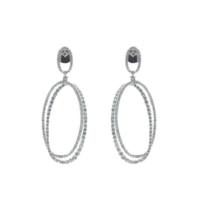 Goldstein Collection Open Oval Diamond Earrings