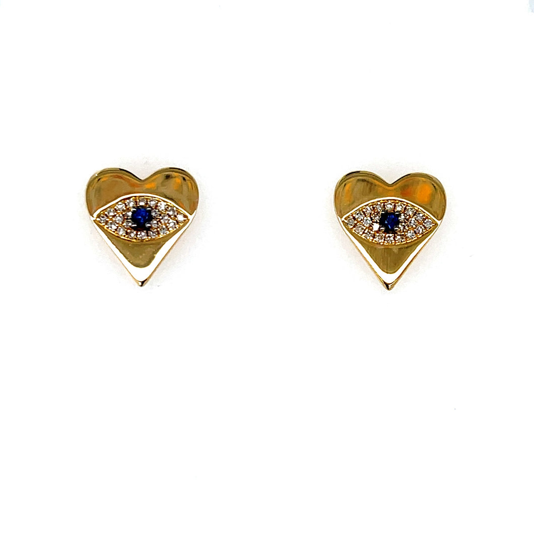 Petite Collection Heart-Eye Studs