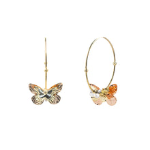 Load image into Gallery viewer, Goldstein Collection Butterfly Hoops
