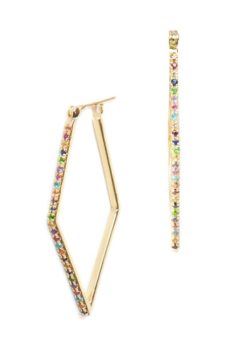 Anzie Rainbow Geometric Hoops