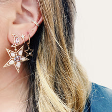 Load image into Gallery viewer, Goldstein Collection Star Dangle Earrings