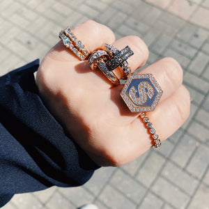 Damaso Martinez Double Nailhead Ring