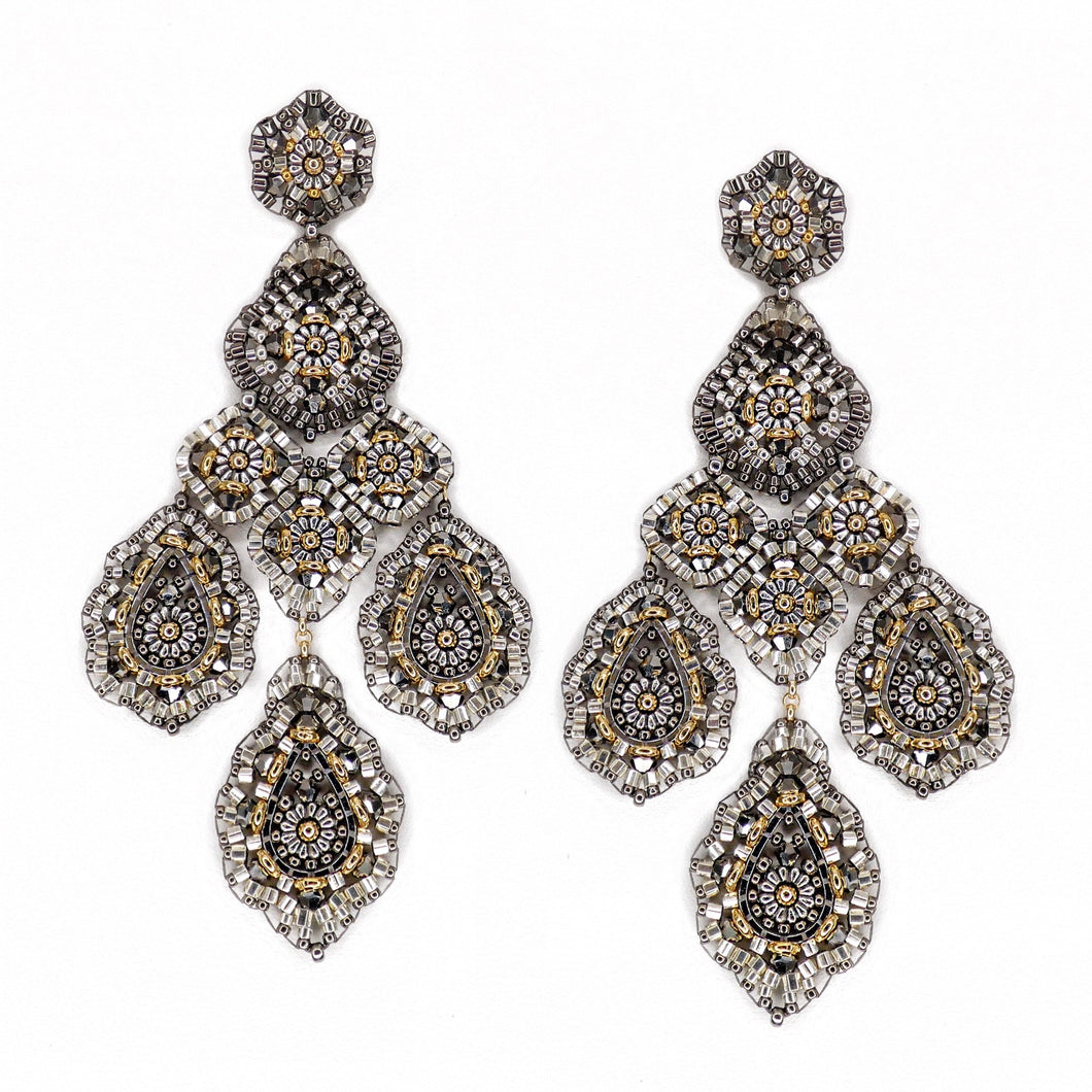 Miguel Ases Pyrite Statement Earrings