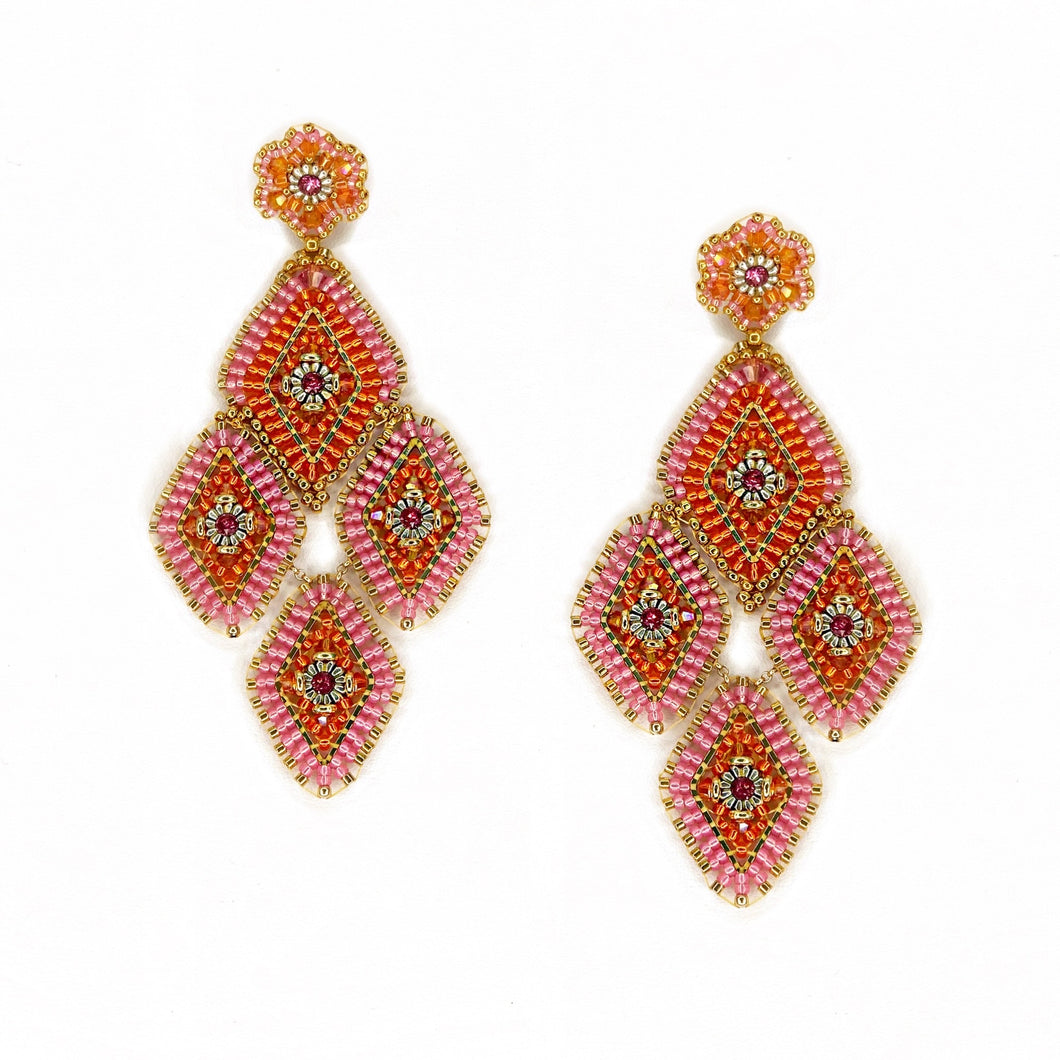 Miguel Ases Neon Statement Earrings
