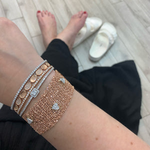 Goldstein Collection Wide Crochet Bracelet