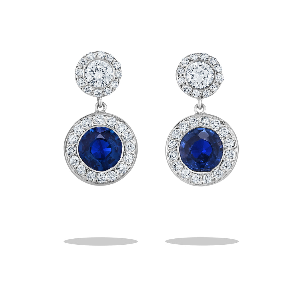 Goldstein Collection Ceylon Sapphire Earrings