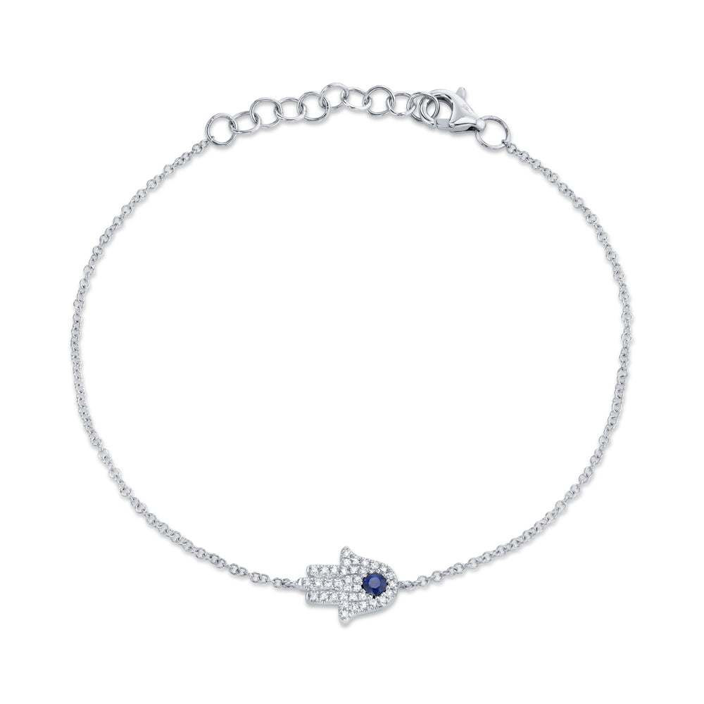 Petite Collection Sapphire & Diamond Hamsa Bracelet