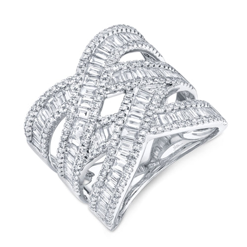 Goldstein Collection Twisted Baguettes Ring
