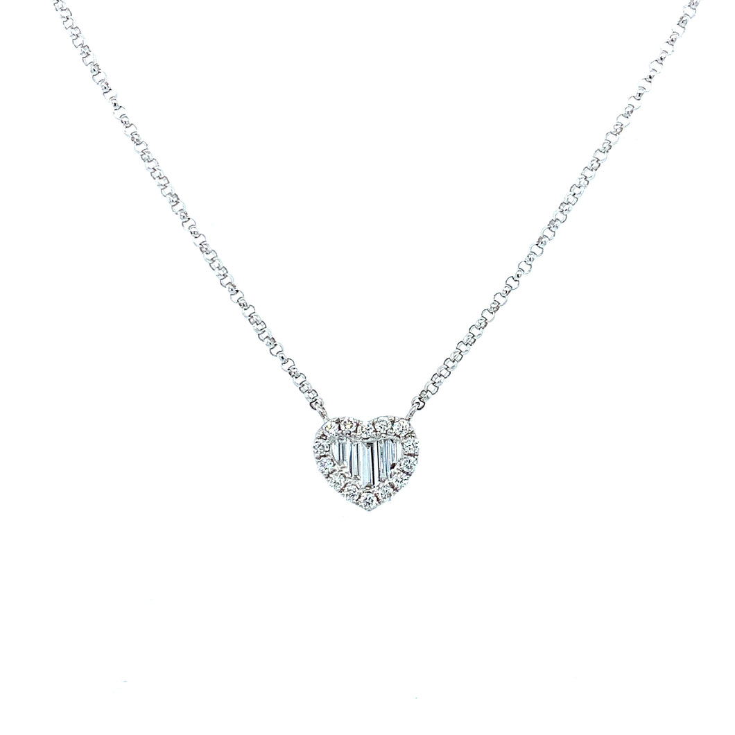 Petite Collection Baguette Diamond Heart
