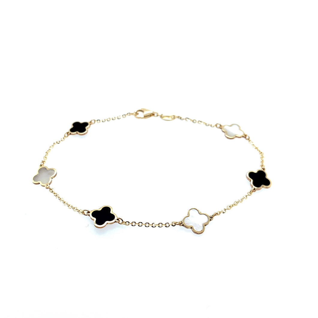 Petite Collection Inlay Clover Bracelet