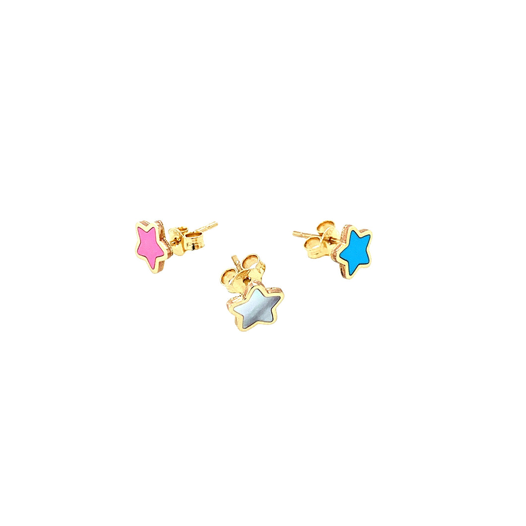 Petite Collection 14kt Inlay Studs