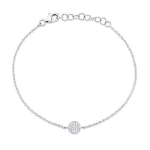 Petite Collection Tiny Pave Disc Bracelet