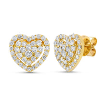 Load image into Gallery viewer, Goldstein Collection Heart Studs