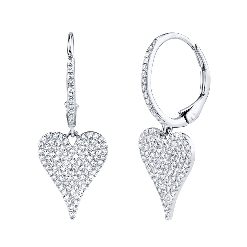 Goldstein Collection Heart Drop Earrings
