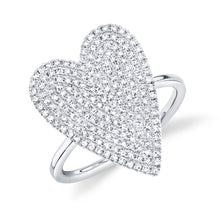 Load image into Gallery viewer, Goldstein Collection Pave Heart Ring