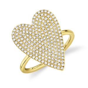 Goldstein Collection Pave Heart Ring