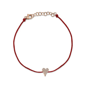 Petite Collection Pave Heart Protection Bracelet