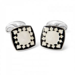 Deakin & Francis Sterling Silver and Enamel Cufflinks
