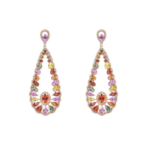 Prism Collection Multi Sapphire Earrings