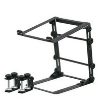 Load image into Gallery viewer, Odyssey BLACK L STAND MOBILE FOLDING LAPTOP/GEAR STAND WITH TABLE/CASE CLAMPS