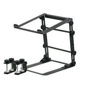 Odyssey BLACK L STAND MOBILE FOLDING LAPTOP/GEAR STAND WITH TABLE/CASE CLAMPS