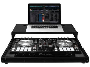 Odyssey Black Low Profile Pioneer DDJ-RR / DDJ-SR / DDJ-SR2 Flight Case with Glide Platform