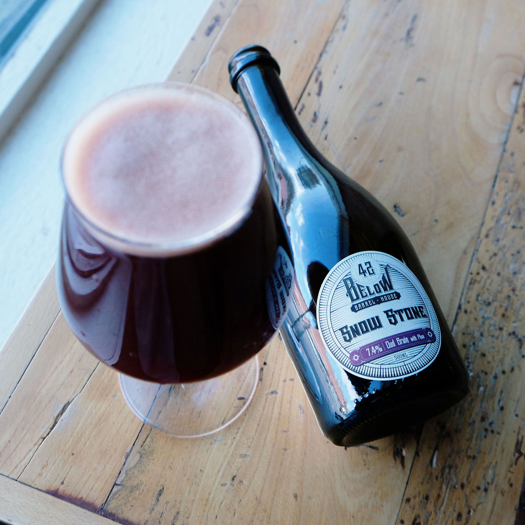 Snow Stone Oud Bruin with Plum - For Pick-Up At Brewery