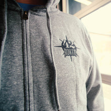 Load image into Gallery viewer, Zip-Up Hoodie - Grey