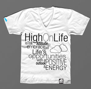High On Life Typography T-Shirt White