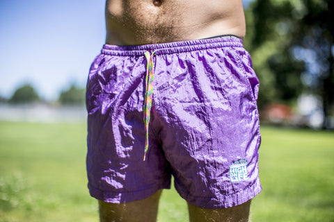 High On Life Purple Swim Shorts