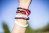High On Life Mala Beads Brown Red String