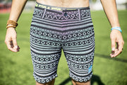 High On Life Pattern Shorts Black