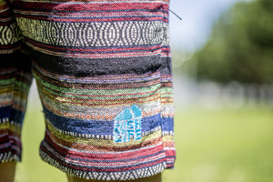 High On Life Pattern Shorts Blue