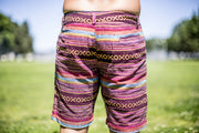 High On Life Pattern Shorts Red