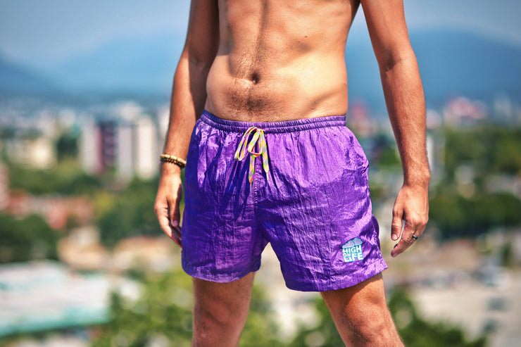 High On Life Shorts Purple