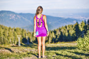 High On Life Purple Sunshine Backless Dress Back